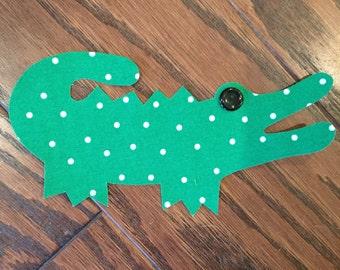 Alligator Iron On Applique, You Choose Fabric