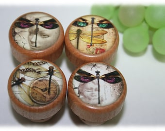 Wine Stoppers Dragonfly Steam Punk, Dragonflies Wine Stoppers- Choose From Over 40 Wine Stopper Designs