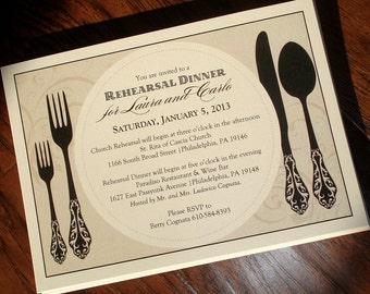 Rehearsal Dinner Invitation - Custom Wording & Colors