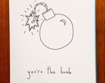 Handmade Card - You're The Bomb