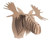 Fred Jr - Medium Cardboard Moose Head - Brown