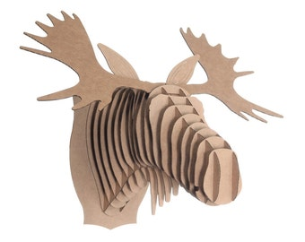 Cardboard Safari Fred Cardboard Moose Head - Medium - Brown