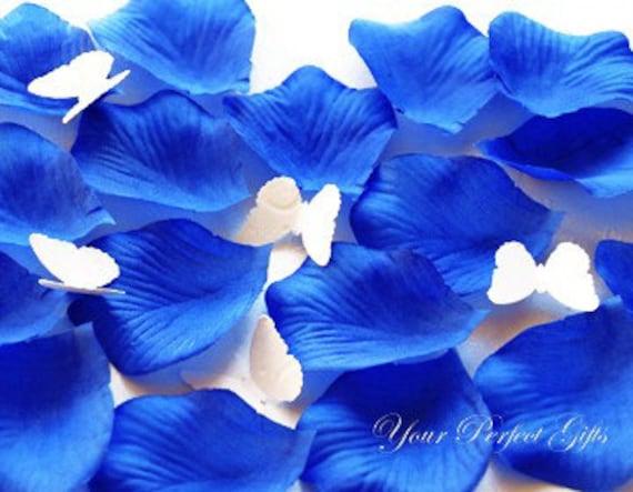 1000 pcs Royal Dark Blue Silk Rose Petals Wedding Flower Favor Decoration RP011