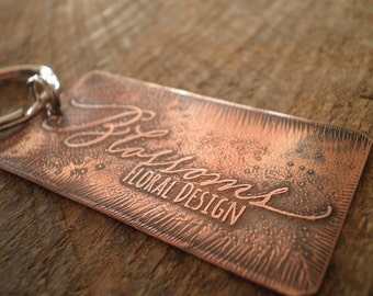 Custom Large Copper Etched Key Chain