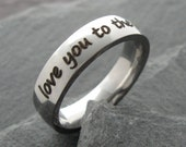 Personalized stainless steel comfort ring - Mommy Ring - Personalized Ring - Mother Ring - Engraved Jewelry