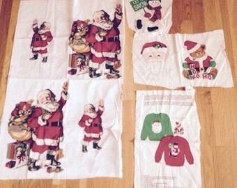 Vintage Christmas Santa Fabric