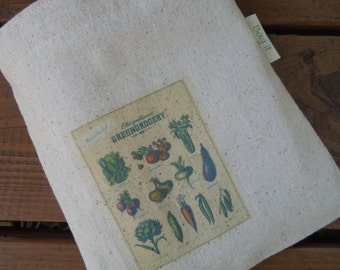 Reusable sandwich bag - Old fashioned greengrocery