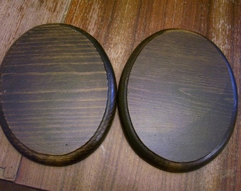 Wood Oval bases set of two