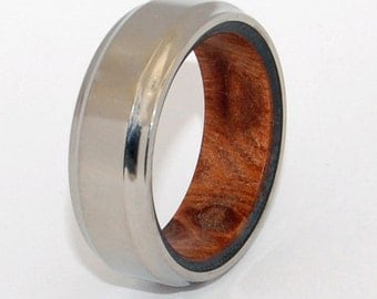 wedding rings, titanium rings, wood rings, men's ring, women's ring, unique wedding ring, engagement rings, commitment ring - THE GIVER