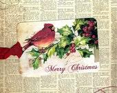 Christmas, Gift Tags, Cardinal, Bird Lover, Christmas Tags