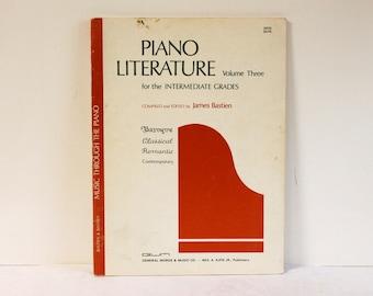 Vintage 1983 Piano Literature Volume Three for the Intermediate Grades