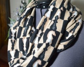 Infinity Scarf Flannel with Chess Pieces