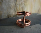 CUSTOM ORDER for Brooklynn - Rocking Chair Ring Forged in Copper - Size 6