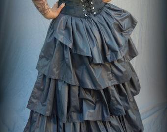 Bustle Petticoat Victorian c. 1880, Victorian Gothic Historic skirt costume cosplay