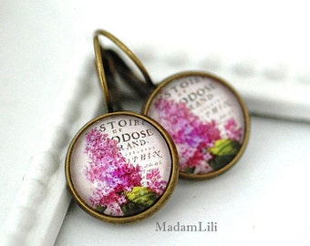 Summer flowers Bronze Earrings