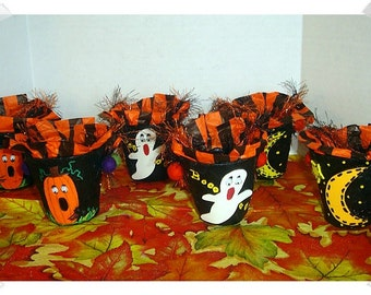Halloween Party Favors/Nut Cups /Paper Mache/ Assorted Set(s) or Singles*/Holiday Decor/ Handmade*