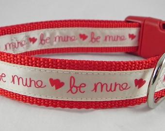 Be Mine Dog Collar / Valentine's Day Dog Collar