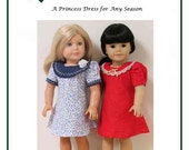 "PDF Pattern "" A Princess Dress for Any Season""  fits American Girl Dolls"