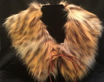 Leopard Faux Fur - Shawl Collar