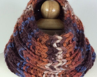 Hand Knit Neck Warmer -RUSTY