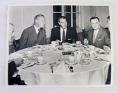 Joe DiMaggio Visits Vanderbilt Univ  - Al Gore Sr and Alexander Heard - Gentlemen's Luncheon - OOAK - Unpublished