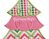 710 Loopy Christmas Tree 2 Machine Embroidery Applique Design