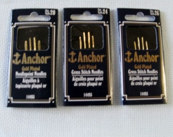 Gold Anchor Cross Stitch Needles