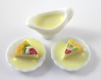 Dollhouse Miniature Food Cheesecake Set in 12th Scale
