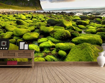 Mossy Shore Self Adhesive Wallpaper