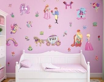 Small Fairy Princess Wall Stickers