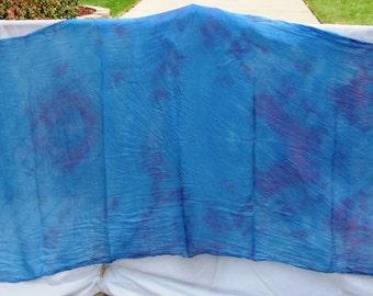 Silk Veil Blue Red Purple Bellydance