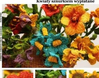 En langue polonaise: Comment faire des fleurs en macramé? LIVRE