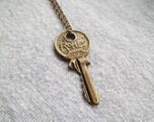 Key Necklace, House Key, Key Jewelry, Key Charm