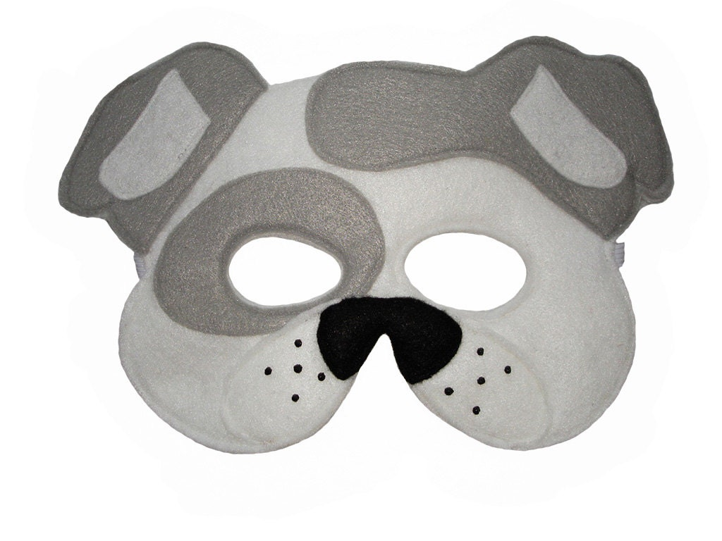 Geeky image within printable dog masks