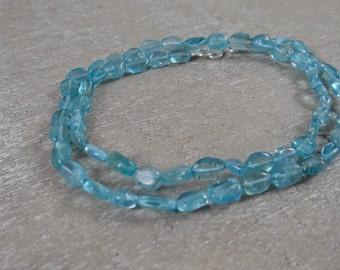 Aquamarine Wrap Bracelet