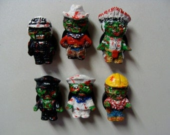 Zombie People  Refrigerator Magnets set  (Full Body/Cutie Style)