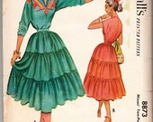 Vintage 1952 McCall's 8873 UNCUT Sewing Pattern Misses' Two-Piece Dress Size 12 Bust 30