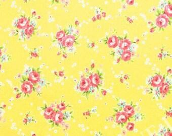 Yuwa Bouquets  on  Yellow Cotton Fabric 819958C