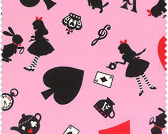Girl's Story Pink Alice in Wonderland  Cotton Fabric  by Lecien 40451-20