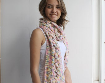 Colorful Special Design By DenizGunes Knit  Scarf Perfect Gift Under 75 For Women For Girl Friend Christmas Gift