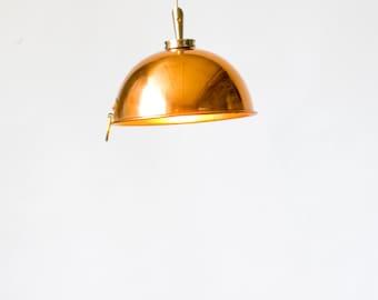 "Copper mixing bowl pendant lights (6"")"