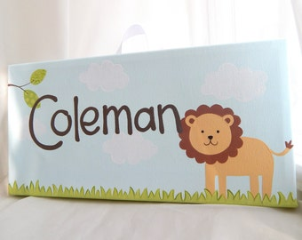 NEW Lion name sign, 6x12
