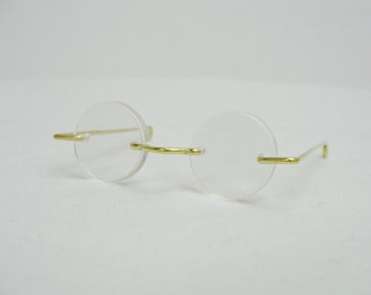 "Doll eyeglasses, doll eye glasses 2.25"" (2 1/4"")"