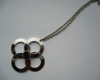 Vintage Modernist 60's 70's Pendant Necklace