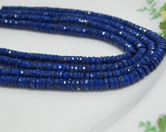 "7.5"" Strand -  Beautiful High Quality LAPIS Sliced Disk Rondelles"