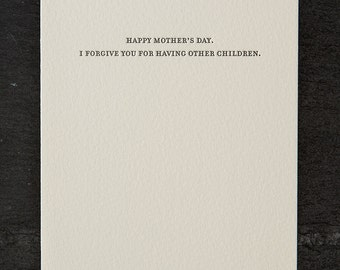 other children. letterpress card. #788