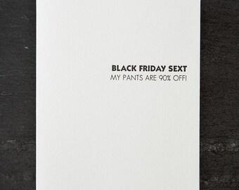 black friday sext. letterpress card. gold envelope. graeber. #700