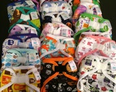 PUL Diaper Cover - Grab Bag Sale Polyester PUL Waterproof Cloth Diaper Covers Choose Size, Gender, and Closure