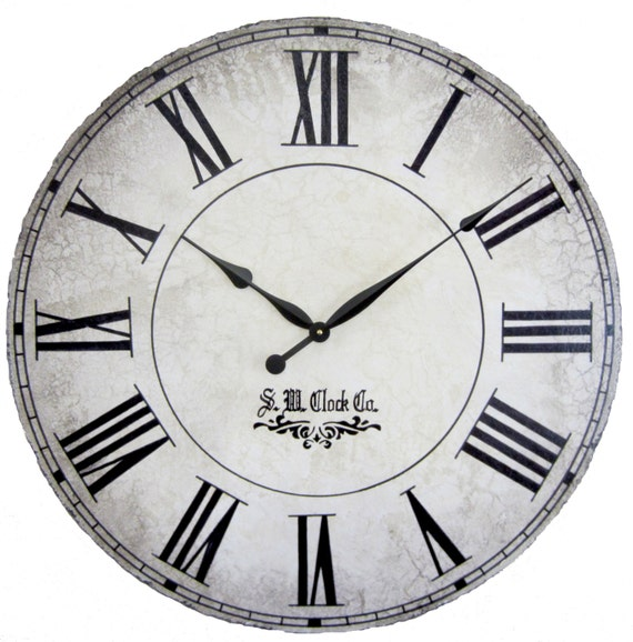 36 in Grand Gallery II Large Wall Clock - antique style tuscan round roman
