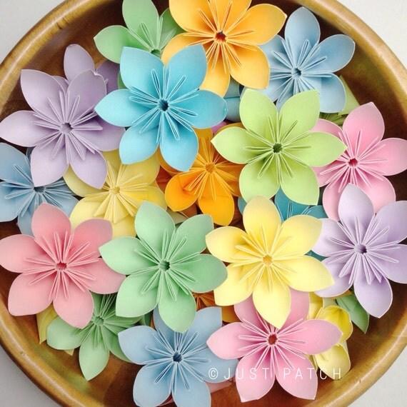 Candy Candy - Origami Folding Flowers - 100 pcs + Free shipping